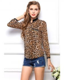 Camisa Animal Print Leopardo